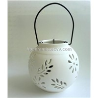 Small Leaves Cutout Ceramic candle lanterns, candle lamps