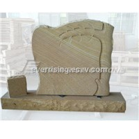 China Wood Sandstone Monument Tombstone