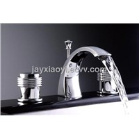 Chrome clour waterfall basin faucet 8 inch widespread lavtory sink faucet
