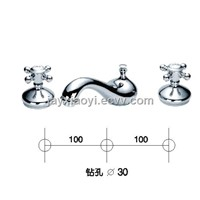 Chrome clour waterfall basin faucet 8 inch widespread lavtory sink faucet TEAPOT FAUCTE TAP
