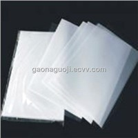 Coated overlay for card with glue 0.08mm