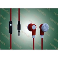 (EP-132)3.5mm Stereo Earphone with MIC In-Ear Headphones for MP3 Mobile Phone