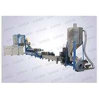 Engineering material double-stage plastic modified granulator