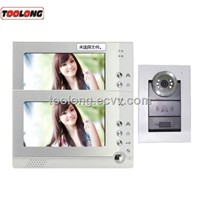 Free Shipping Recordable 7 Video Door Phone for Villa ,Single House with 2monitors