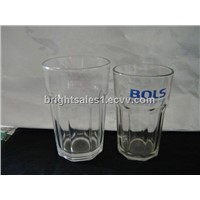 Glass beer mug, glass tumbler
