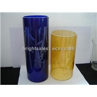 Colorful Glass lamp shade, cylinder glass shade