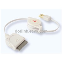 High Speed USB 2.0 Retractable Cable for Iphone