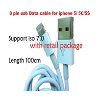 Hot Sell New Arrival ISO7.0 8 PIN Sync USB Data Cable for Iphone5 5G 5S Charger Cable for Iphone 5
