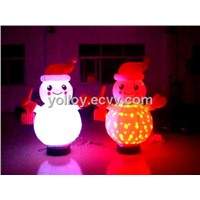 Inflatable Lighting Snowman for Christmas Day Color Change Rotating Snowman Decor Lights
