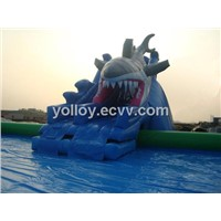 Huge High Quality Inflatable Pool All Kinds of Animal Theme Fun Land Park with Slide Stairs