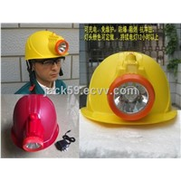 Intergration Safety Helmet with LED Torch/Mining Cap