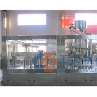 beer bottle rinsing filling capping 3-in-1 machine