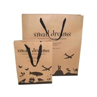 Promotional Kraft paper shopping bags