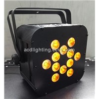 NEW 12*15w 5in1 RGBWA IR wireless remote led light, wireless dmx led light,led flat par light