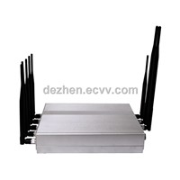 New design!High power 8 antennas GSM 3G+ GPS + WIFI + Wimax+4G Signal Jammer shield blocker