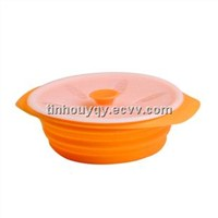 No-Stick Collapsible Silicone Steamer Bowl