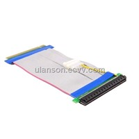 PCI Express PCI-e 16X TO 16X Riser Card Extender Ribbon Cable with w/ Molex Connector