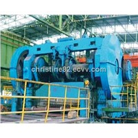Pneumatic friction clutch plate shearing machine