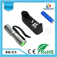 Portable Stainless Steel Smallest Flashlight