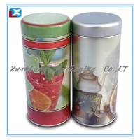 Round Shape Tea Cans With Lid