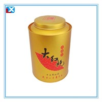 Round tin tea caddy manufacturers