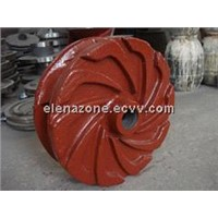 Rubber molded impeller for slurry pumps