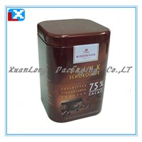Square coffee tin container