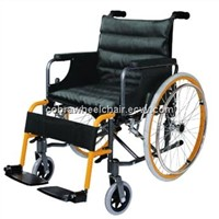 Steel with Black Powder Coating wheelchair&big wheels wheelchair&rehabilitation therapy wheelchair