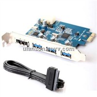 SuperSpeed USB 3.0 PCI Express (x1)(3x ext)+ Power eSATA( SATA3.0) with Molex Connector