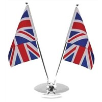 Telescopic table flag pole