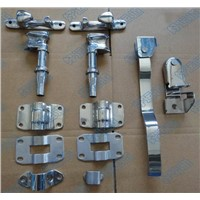 Trailer door locking mechanisms cam door lock assembly
