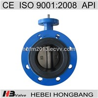 Worm Gear Operated Double Flange Butterfly Valve