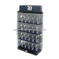 Wrist Watch Counter Display Case With C Holders Acrylic Watch Cabinet