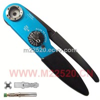 YJQ-W2A Adjustable hand crimp tool M22520/1-01multifunctional plier 12-26AWG electronic connectors