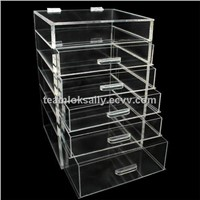 acrylic makeup organizer 6 tier with 5 drawers wholesale