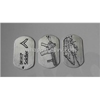 aluminum dog tag,dog tag with printed logo, Pet ID, Military necklace