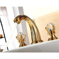 basin waterfall faucet 8 inch Widespread Bathroom Sink Faucet crystal handles faucet
