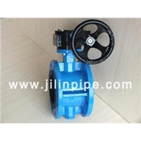 Butterfly Valve, Flange Type Turbine-Driven Butterfly Valve