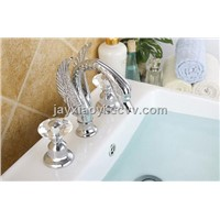 chrome Clour crystal handles swan SINK faucet widespread sink lavtory swan faucet
