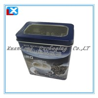 empty square tin plate tea cans
