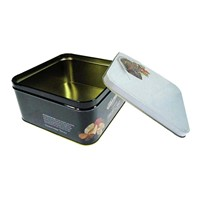 food grade square cookie tin