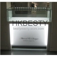 high quality jewelry display cabinets with high power LED lights