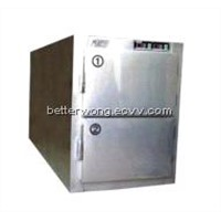 mortuary refrigerator with two bodies