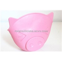 pig design silicone oven gloves