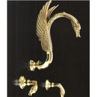 pvd gold swan Shower faucet wall mounted swan tap