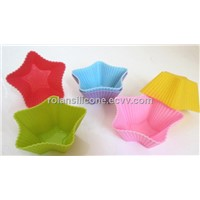 star shape silicone cupcake mould