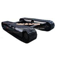 steel crawler track chasis(steel track frame undercarriage)