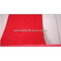 supply ISO 9001 and ISO 14001 plain velour carpet 100%PE non woven
