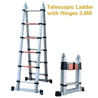 Telescopic Ladders with Hinges 3.8M Double Using