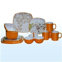 two tone melamine ware
